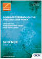 Unit R072/01 - Combined feedback - June 2013 exam paper - cover
