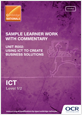 Unit R002 - Sample learner work with commentary - cover