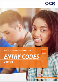 Entry Codes: Cambridge Nationals 2019/20
