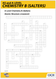Atomic structure crossword activity  - cover