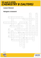Halogens periodicity crossword activity - cover