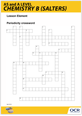 Elements of life periodicity crossword activity - cover
