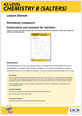 Elements of life periodicity crossword activity (Teacher instructions) - cover