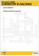 S-Block elements crossword activity - cover