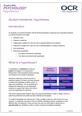 Hypotheses - Student handbook - Image