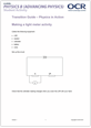 Physics in action - Activity 1 - Making a light meter activity image