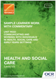 Unit R022 - Sample learner work with commentary - cover