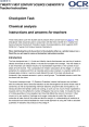 Chemical analysis - Checkpoint activity