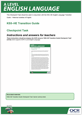 KS5 - HE Transition guide - Checkpoint task - Teacher's instructions - cover