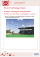 Modern technology in Sport - Learner activity - cover
