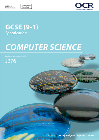 OCR GCSE Computer Science J276 specification
