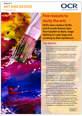 Five reasons to study the arts - Factsheet - image