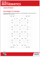 Activity sheet: Percentages of a quantity jigsaw - cover