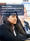 Entry Codes: General Qualifications 2018/19