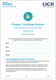 295579 - GCSE Physics A and B - Candidate progress sheet - image