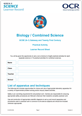 295579 - GCSE Biology A and B - Candidate progress sheet - image
