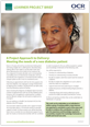 Project approach - Meeting the needs of a new diabetes patient - Learner project brief