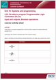 Unit 16 Input and outputs, Boolean operations  - Lesson Element - Learner Task - cover