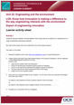 Unit 22 - Impact of engineering innovation - Lesson Element - Learner Task - cover