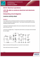 Unit 08 Interpreting circuit diagrams Lesson Element - Learner Task - cover