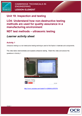 Unit 19 - NDT test methods - ultrasonic testing - Lesson Element - Learner Task - cover