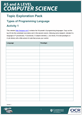 Types of programming language - Topic exploration pack - Learner activity- cover