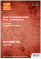 Unit R062 - Sample learner work with commentary - cover