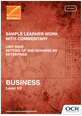 Sample learner work with commentary - R063 - cover