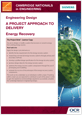 Siemens' energy recovery - Learner project brief - cover