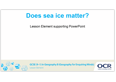 Sustaining ecosystems - Does sea ice matter? Teacher presentation - Lesson element - cover