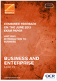 Combined feedback - R061 June 2013 exam paper - cover