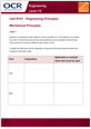 Unit R101 - Mechanical principles - Lesson element - Learner task cover