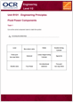 Unit R101 - Fluid power components - Lesson element - Learner task cover