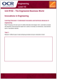 Unit R102 - Innovations in engineering - Lesson element - Learner task - cover