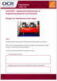 Unit R104 - Design for maintenance and repair - Lesson element - Learner task