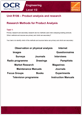 Unit R106 - Research methods for product analysis - Lesson element - Learner task - guide cover