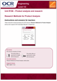 Unit R106 - Research methods for product analysis - Lesson element - Teacher instructions - guide cover