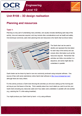 Unit R108 - Planning and resources - Lesson element - Learner task - cover