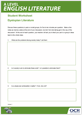 Dystopian Literature - Student worksheet - Lesson element - cover