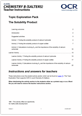 Solubility Product - Topic exploration pack - Image