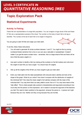 Statistical Experiments learner activity - cover