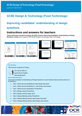 Improving candidates' understanding of design questions activity (Teacher instructions)