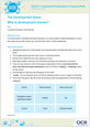 The development game, why is development uneven? learners' activity sheets - cover