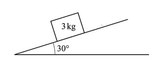 30 degree angle with a 3 kg weight