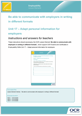 Unit 17 - Adapt personal information for employers - Teacher instructions - Lesson element 1 - cover