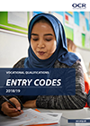 Vocational Qualifications Entry Codes 2018/19